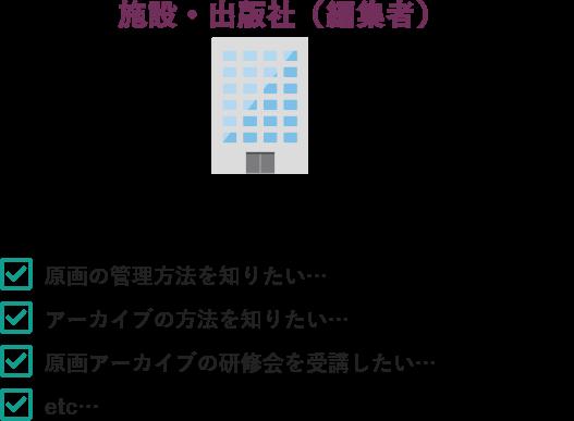 施設・出版社(編集者)